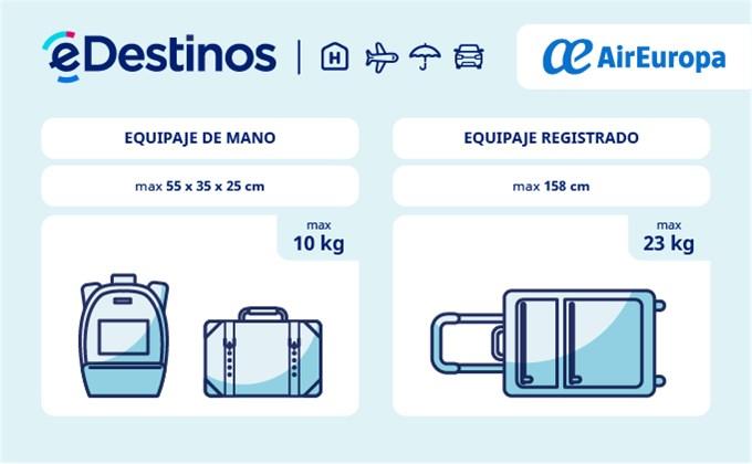 d24714b02 Equipaje: tamaño y peso - AIR EUROPA. Comprueba las restricciones de equipaje  para viajar ...