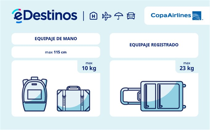 d36cd0bee Equipaje: tamaño y peso - COPA AIRLINES. Comprueba las restricciones de equipaje  para viajar ...