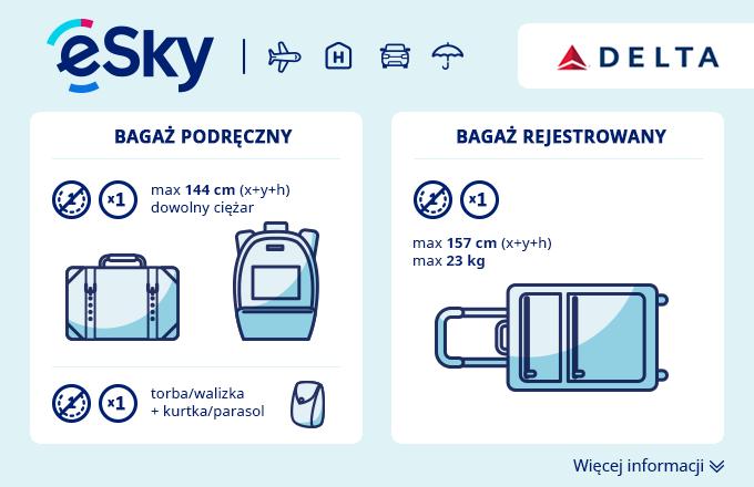 00e8a11f0bb61 Bagaż  Wymiary i waga - Delta Air Lines