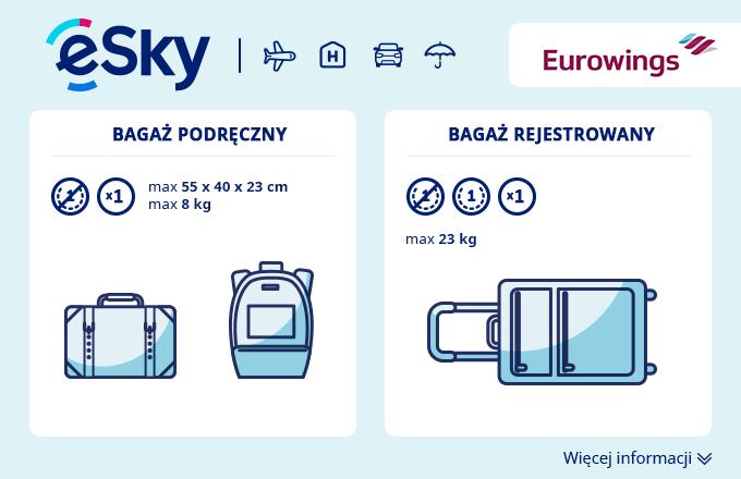 85899bd5c6da5 Bagaż  Wymiary i waga - Eurowings