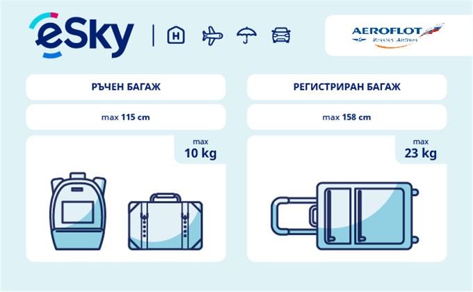 Тегло и размери на багажа - Aeroflot