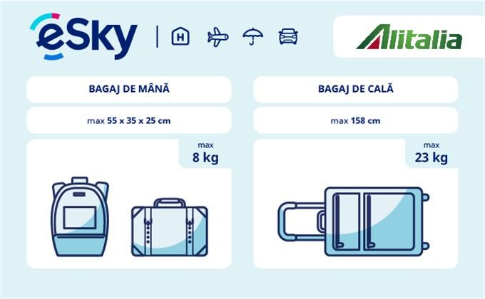 Dimensiunea și greutatea bagajelor  - Alitalia