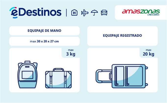 Equipaje: tamaño y peso - AMASZONAS