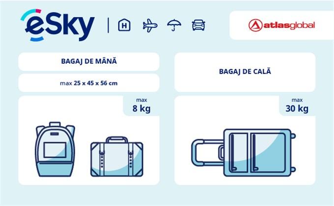 Dimensiunea și greutatea bagajelor  - Atlasglobal