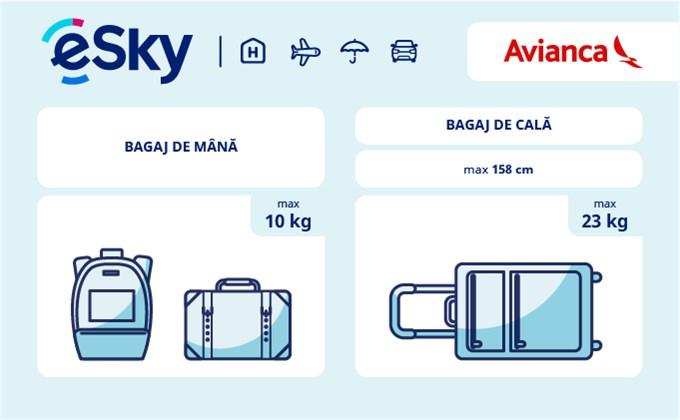 Dimensiunea și greutatea bagajelor  - Avianca