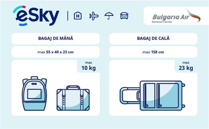 Bagaj: restricții de dimensiuni și greutate - Bulgaria Air
