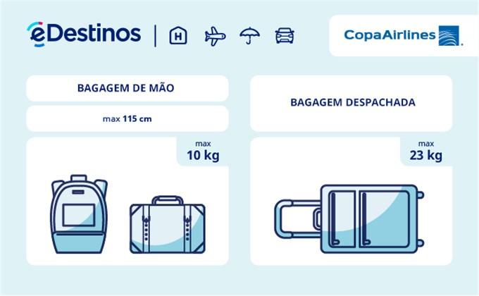 Bagagem: dimensões e peso - Copa Airlines