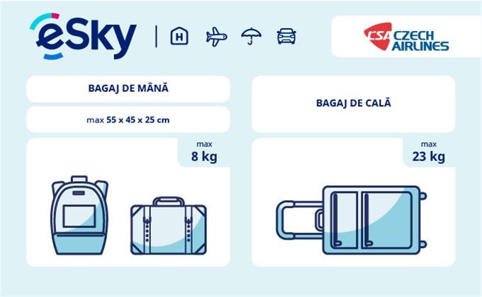 Dimensiunea și greutatea bagajelor  - Czech Airlines