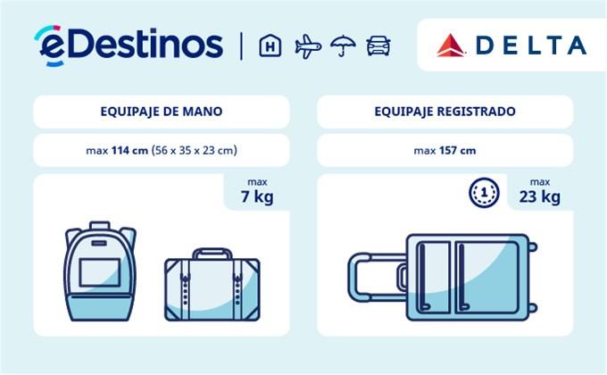 Equipaje: tamaño y peso - DELTA AIR LINES