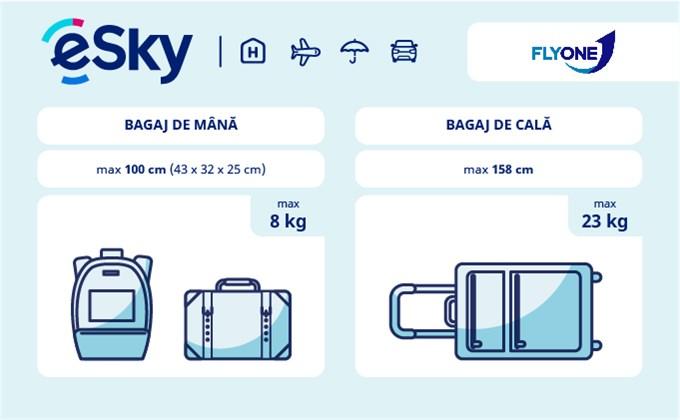 Dimensiunea și greutatea bagajelor  - FlyOne