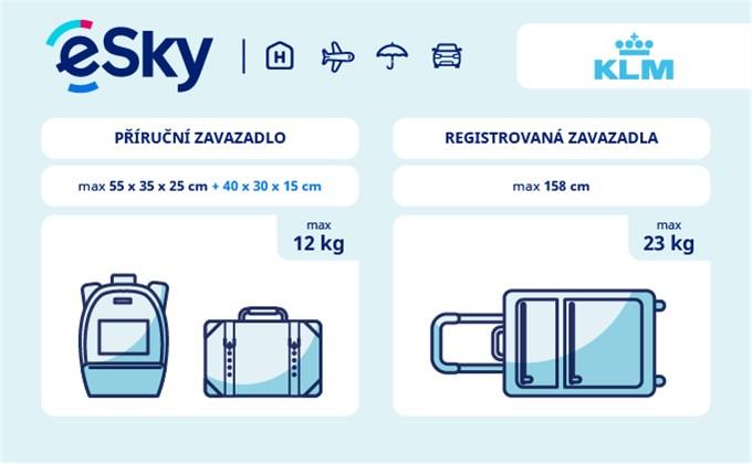 Zavazadla: omezení týkající se váhy a rozměrů - KLM