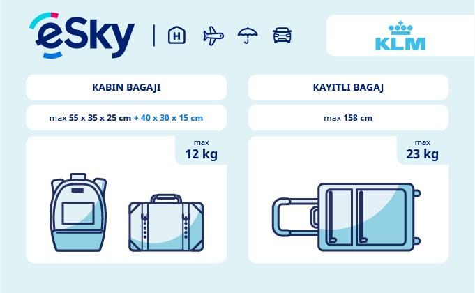Bagaj: boyut ve ağırlı sınırlamaları - KLM