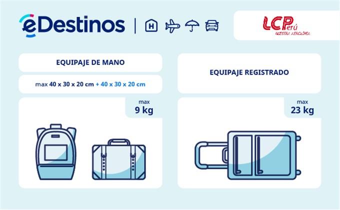 Equipaje: tamaño y peso - LC Perú