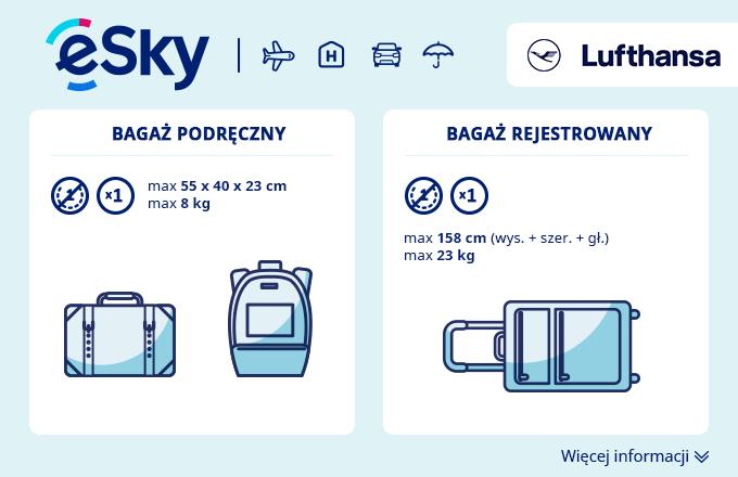 Bagaż: Wymiary i waga - Lufthansa