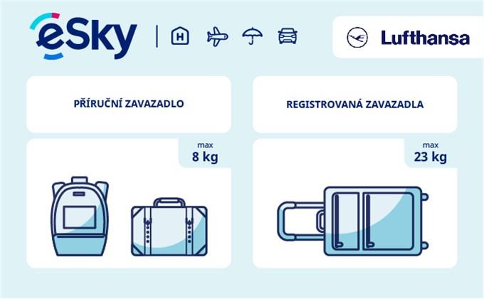 Zavazadla: omezení týkající se váhy a rozměrů - Lufthansa