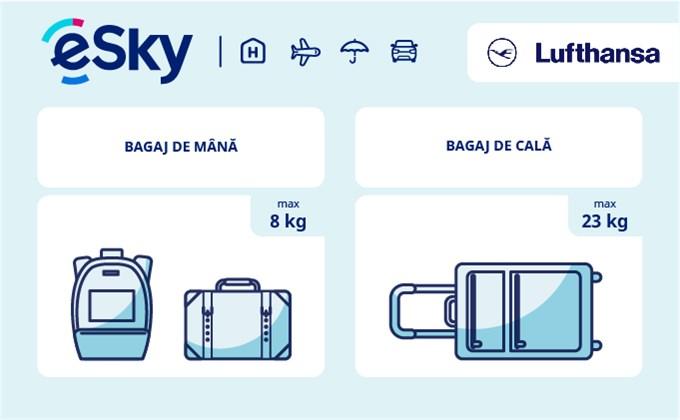 Dimensiunea și greutatea bagajelor  - Lufthansa