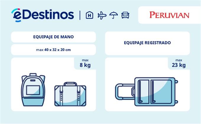 Equipaje: tamaño y peso - PERUVIAN AIRLINES