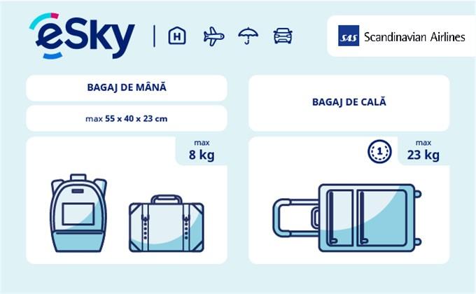 Dimensiunea și greutatea bagajelor  - SAS (Scandinavian Airlines)