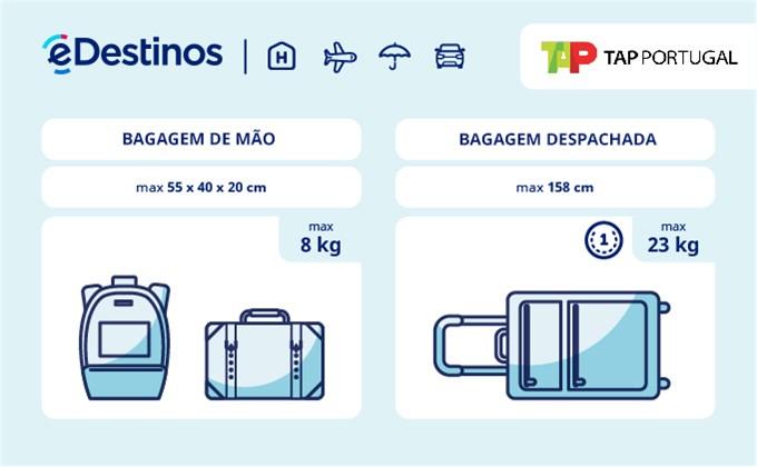 Bagagem: dimensões e peso - TAP Portugal
