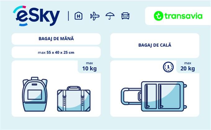 Dimensiunea și greutatea bagajelor  - Transavia