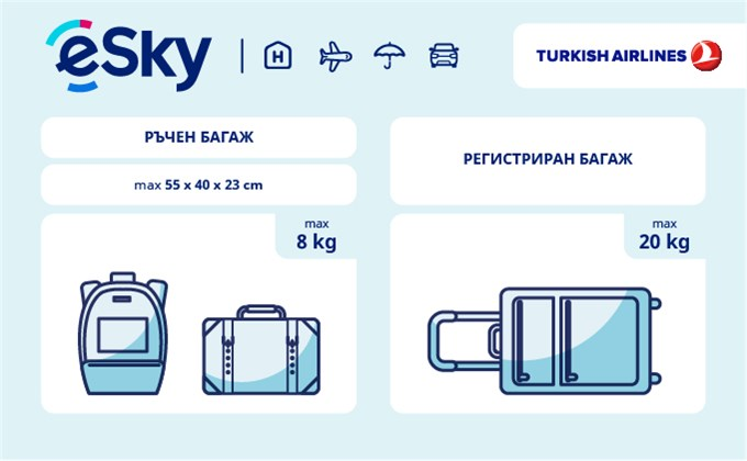 Тегло и размери на багажа - Turkish Airlines