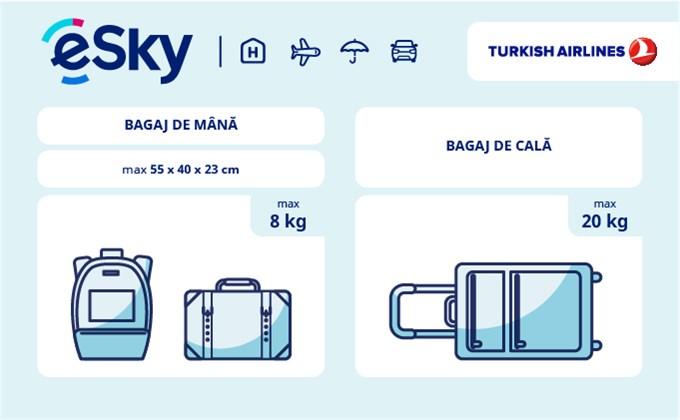 Dimensiunea și greutatea bagajelor  - Turkish Airlines