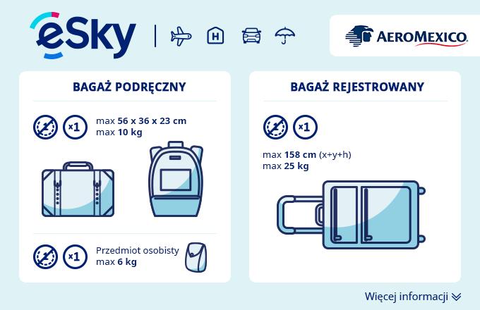 Bagaż: Wymiary i waga - Aeromexico