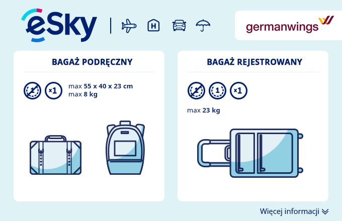 Bagaż: Wymiary i waga - Germanwings