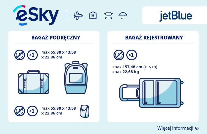 Bagaż: Wymiary i waga - JetBlue Airways