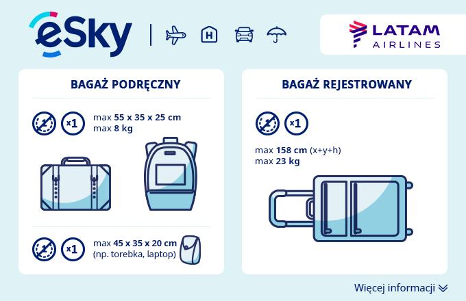 Bagaż: Wymiary i waga - LATAM Airlines Brasil