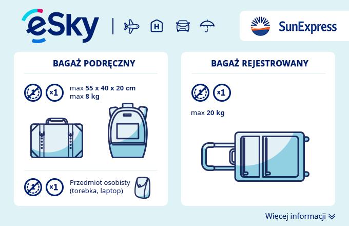 Bagaż: Wymiary i waga - SunExpress