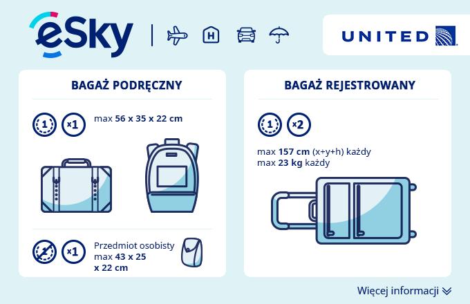 Bagaż: Wymiary i waga - United Airlines