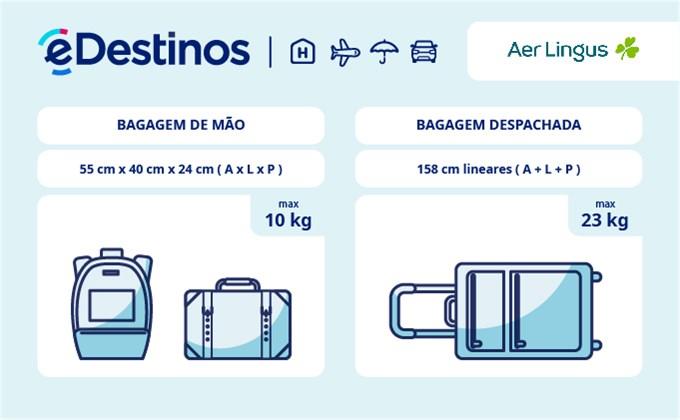Bagagem: dimensões e peso - Aer Lingus