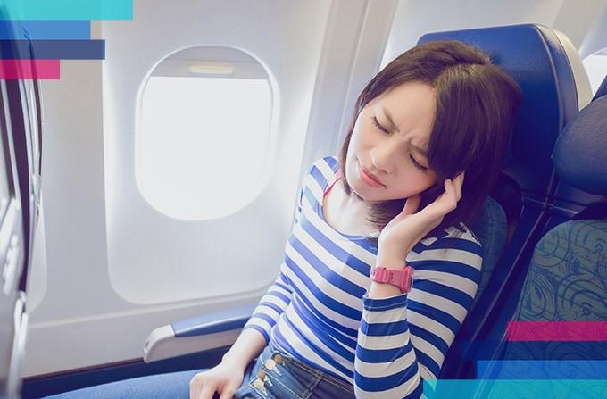 Dolor de oído durante el viaje en avión