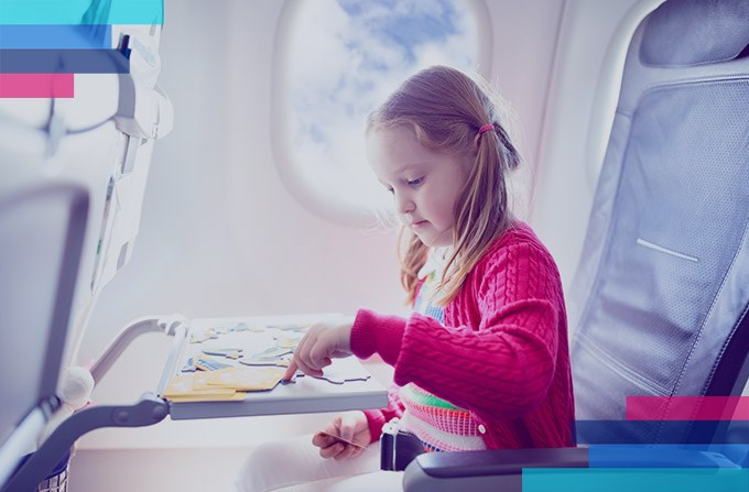 Entertaining children on a plane is all about fun and games