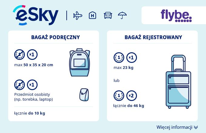 Bagaż: Wymiary i waga - Flybe