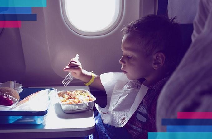 Menu dla dzieci w samolocie