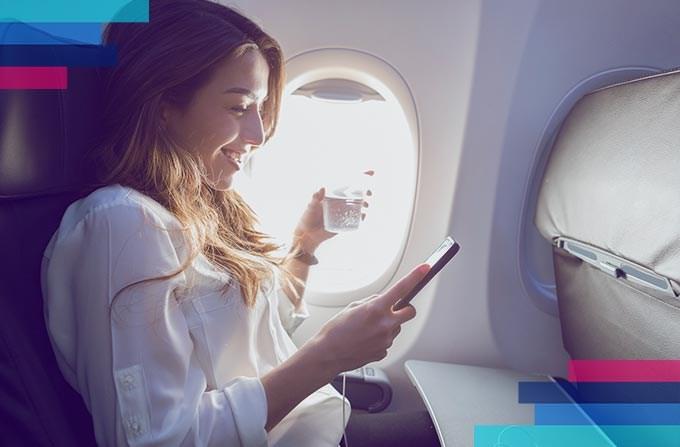 Използване на мобилен телефон в самолета