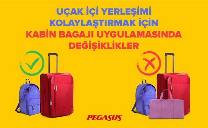 Pegasus Check-in Süreleri ve Kabin Bagajı Kuralları Değişiklikleri