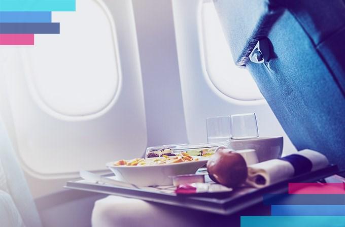 Comidas servidas en el avión