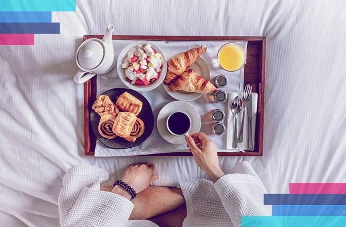 Frukostbuffé på hotell