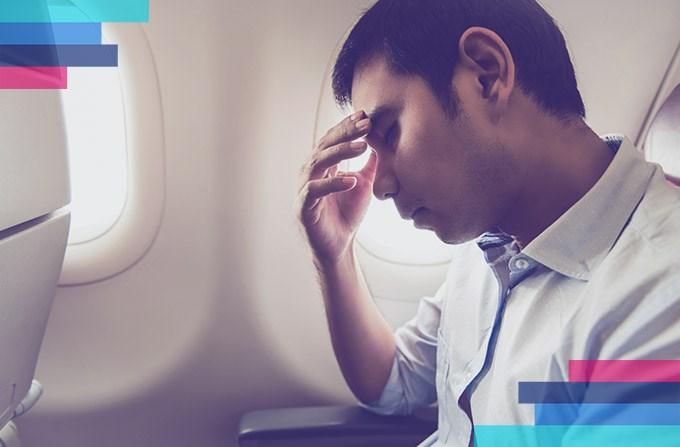 Złe samopoczucie w samolocie
